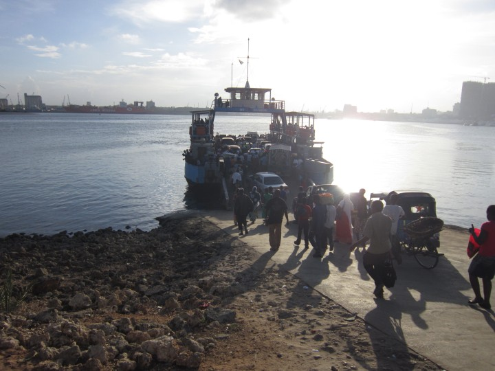 Loading the Ferry to Dar