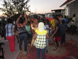 Dancing on the terrace of africa house