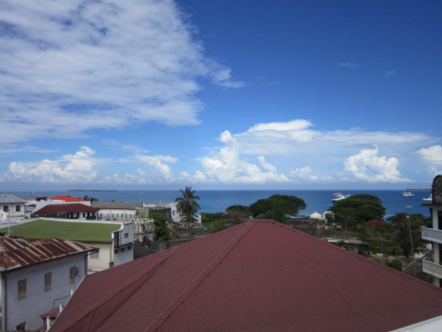 Roof top view of ocean
