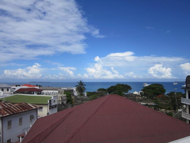 Roof top view of ocean