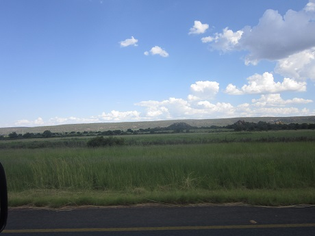 Driving through the Kalahari