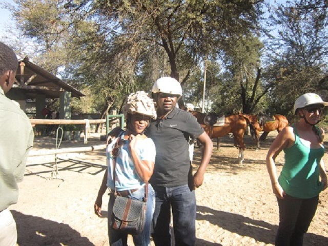 Lawrence & Chenai equipped for their adventure