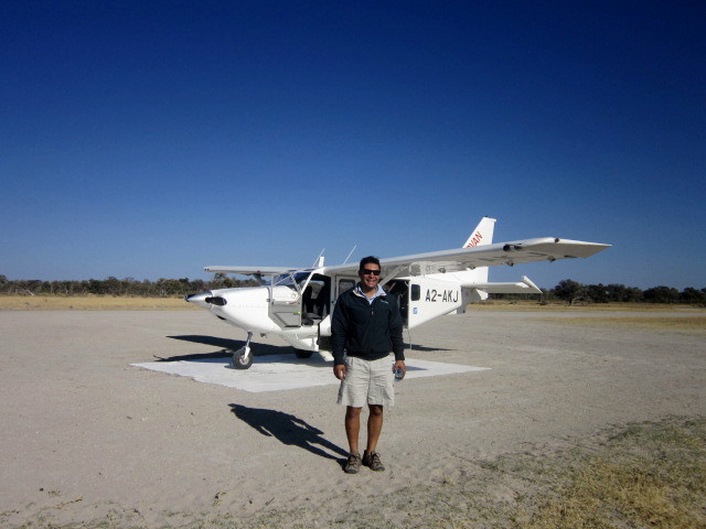 Andres and our plane