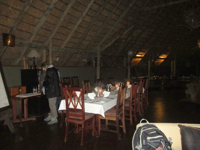 our candle lit dining room