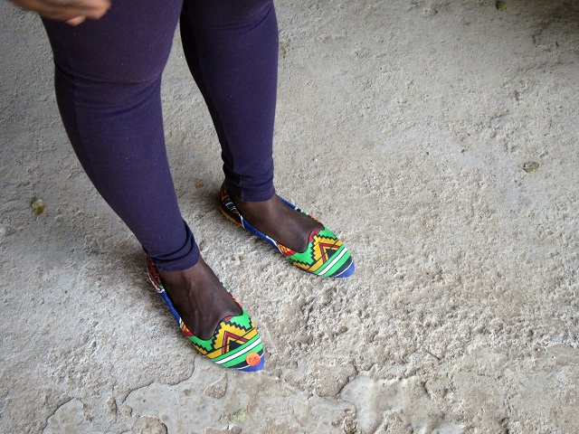 Sheila's funky African shoes