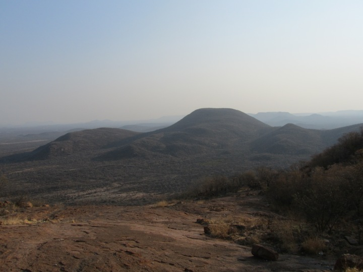 A view from the top of Kgale hill