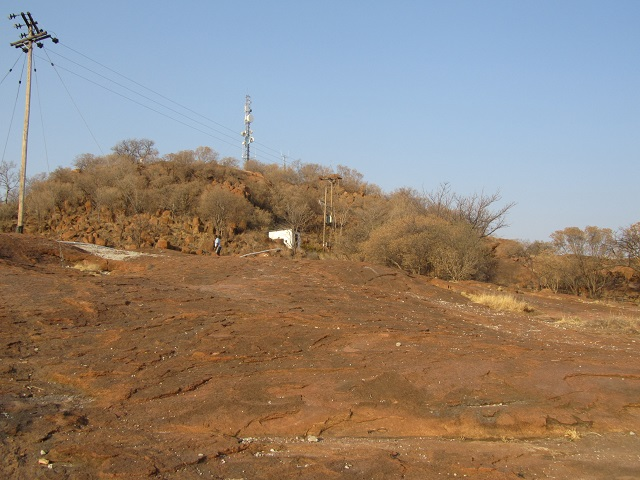 The top of Kgale Hill
